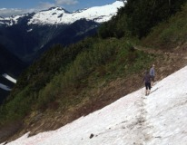 Hiked a snowy mountain in Western Washington