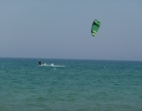 Went kitesurfing in Lake Michigan