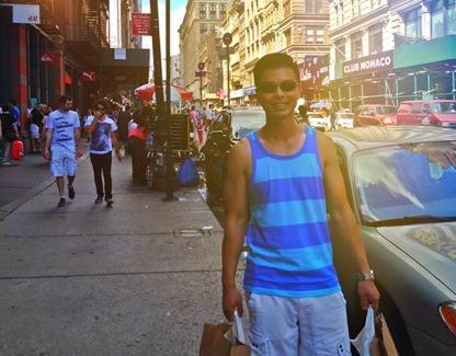 Shopping with my family in SoHo, NY