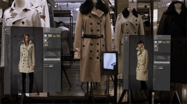 Burberry Interactive Mirrors