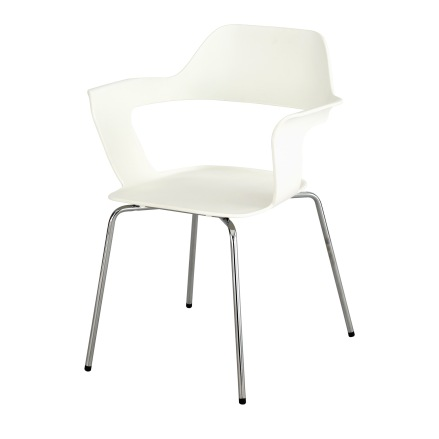 $360.00 – made of fiberglass polypropylene with chrome legs