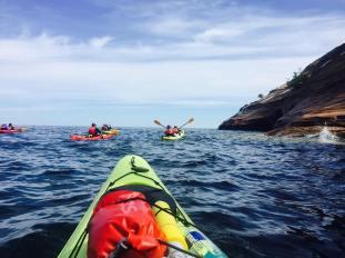Allison Schmid: kayaking Lake Superior