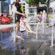 Elizabeth Birkenhauer: Staying cool from the heat... fun day off with my little lady!