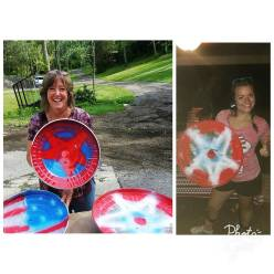 Elizabeth Price: Making a shield was an integral part of this 4th!