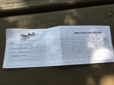 Mike Keifling: Bryan Goodwin & I played in a disc golf tournament at Mt Airy Forest.
