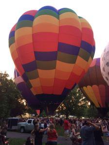 Tom Custer: Enjoying balloon glow at Coney!